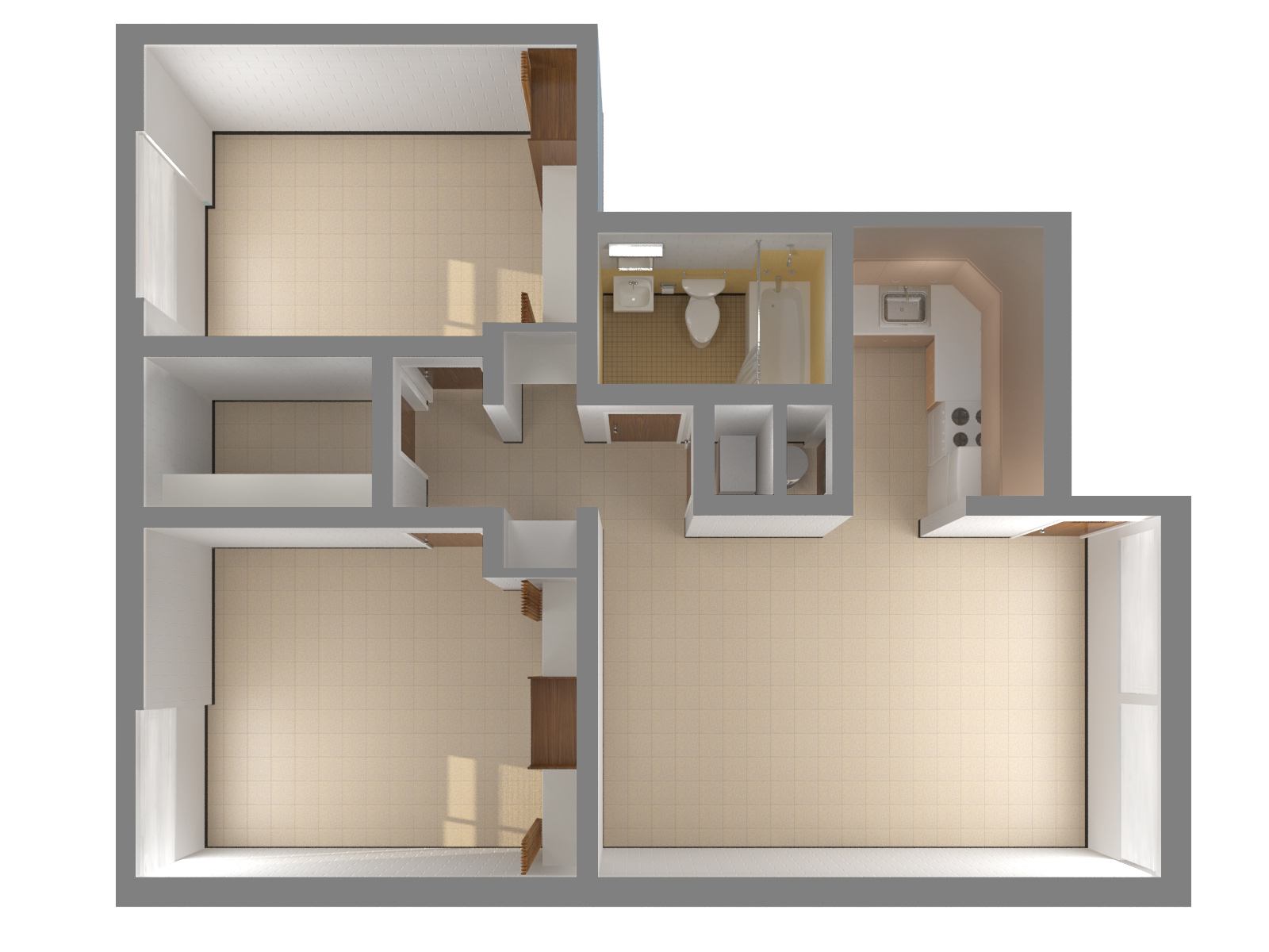 2 bedroom apartment top - Two Bedroom Apartment