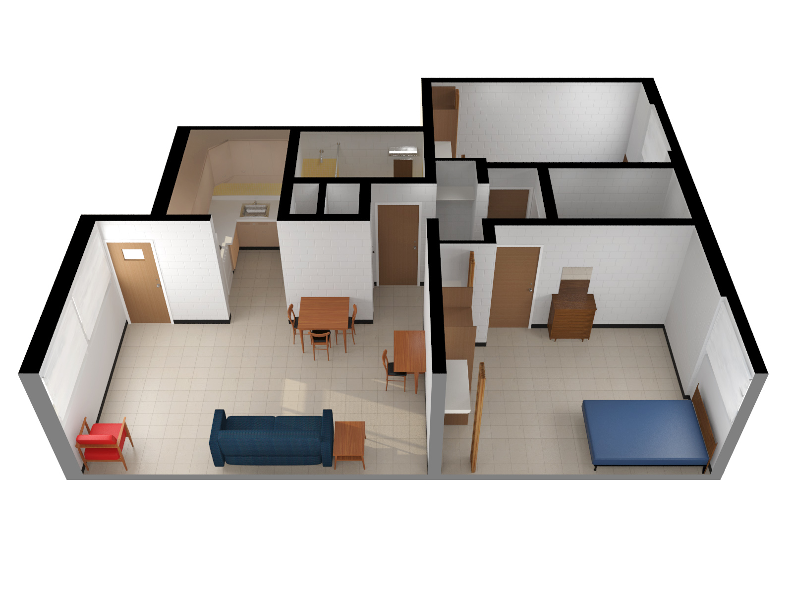 2 Bedroom Furnished Apartment. Orchard Downs Layouts  University Housing at the University of