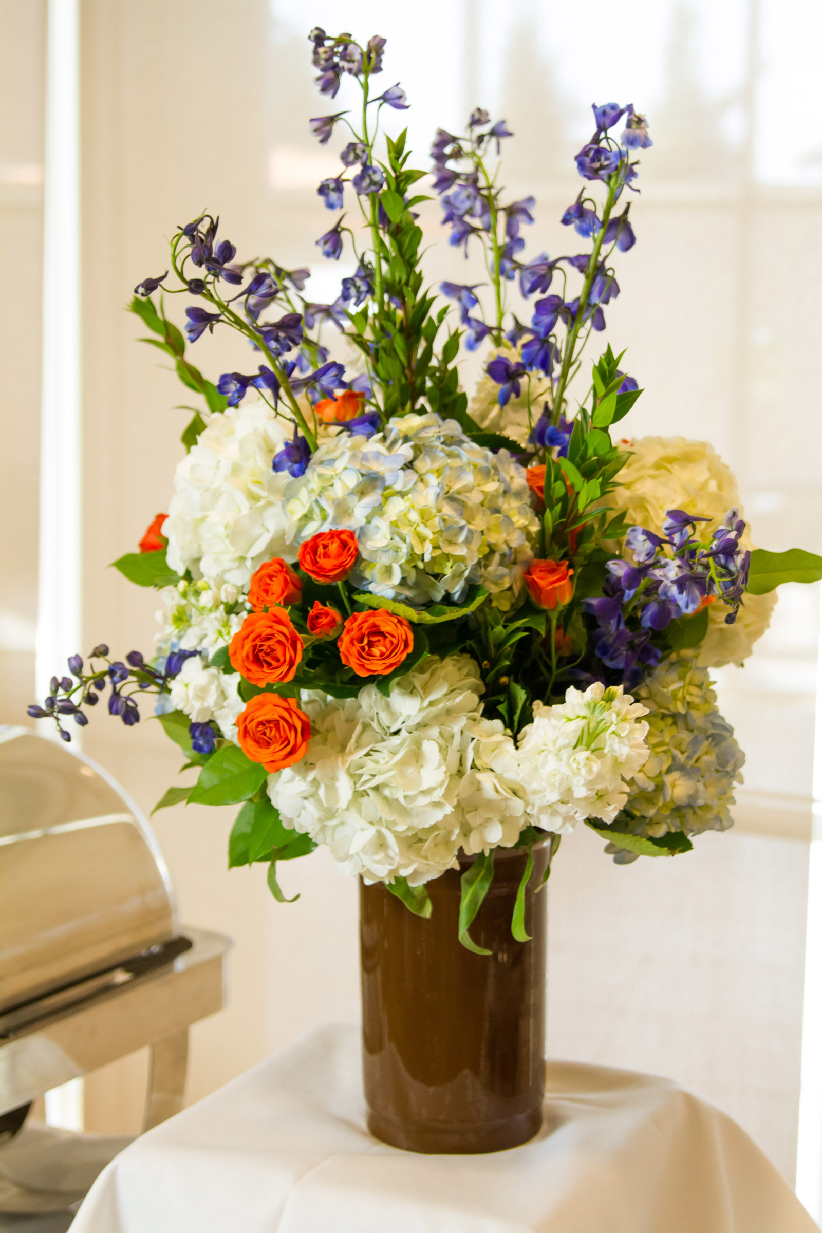 Standard Tabletop Floral Arrangements. Included With Buffet Table