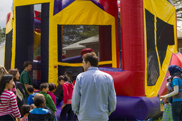 Bounce house at Final Fling