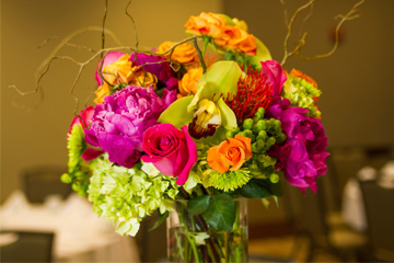 Bright flower arrangement