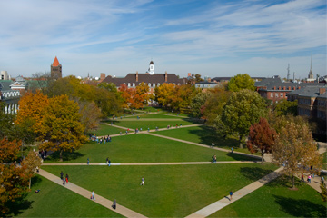 Wide view of the quad