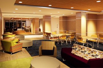 Wassaja Hall main lounge rendering