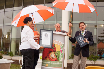Largest container of tomato spread world record