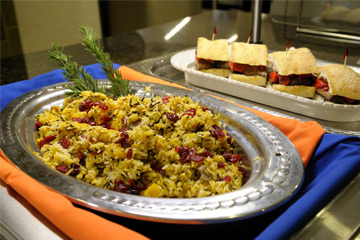 Vegetarian dishes at Ikenberry dining hall
