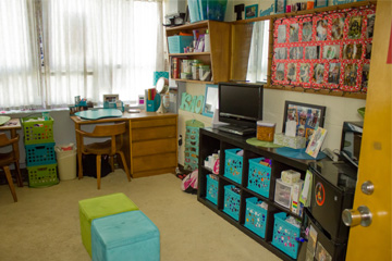Weston Hall resident room