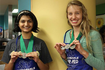 Winners of the Chopped cooking competition