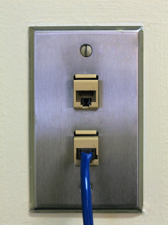 room connection university housing at the university of illinois small plug cat 3 wall jack